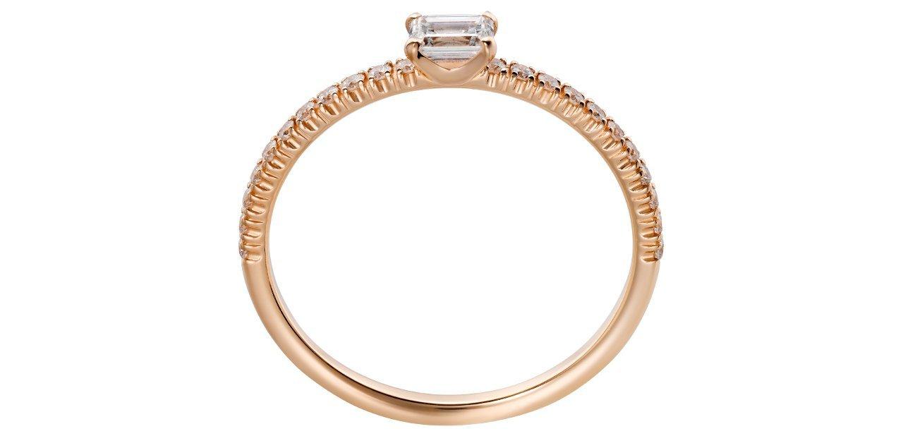 Anillo de compromiso en oro Cartier lateral
