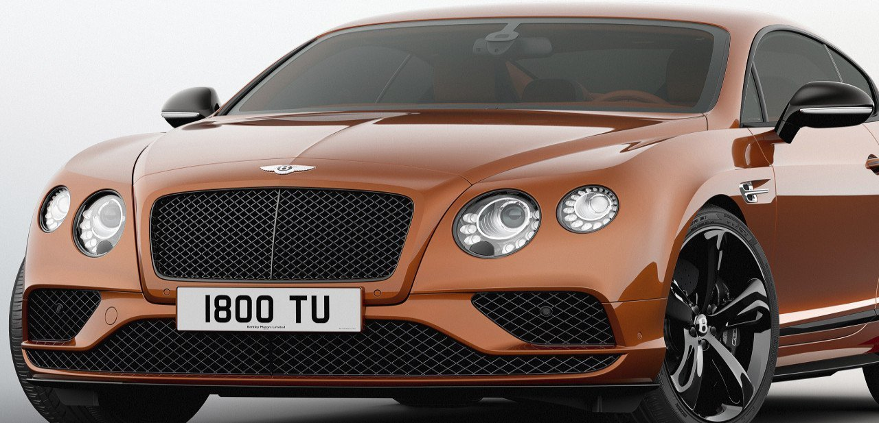 Bentley Continental GT Speed Black Edition, vista frontal