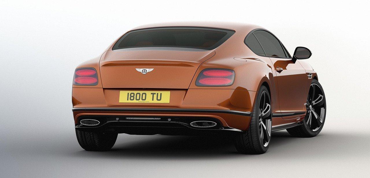 Bentley Continental GT Speed Black Edition, vista trasera