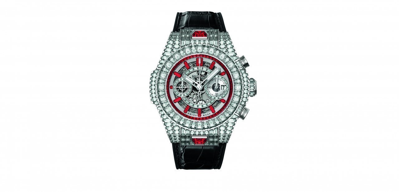 "Big Bang ""10 Years"" Haute Joaillerie con diamantes blancos y rubíes"