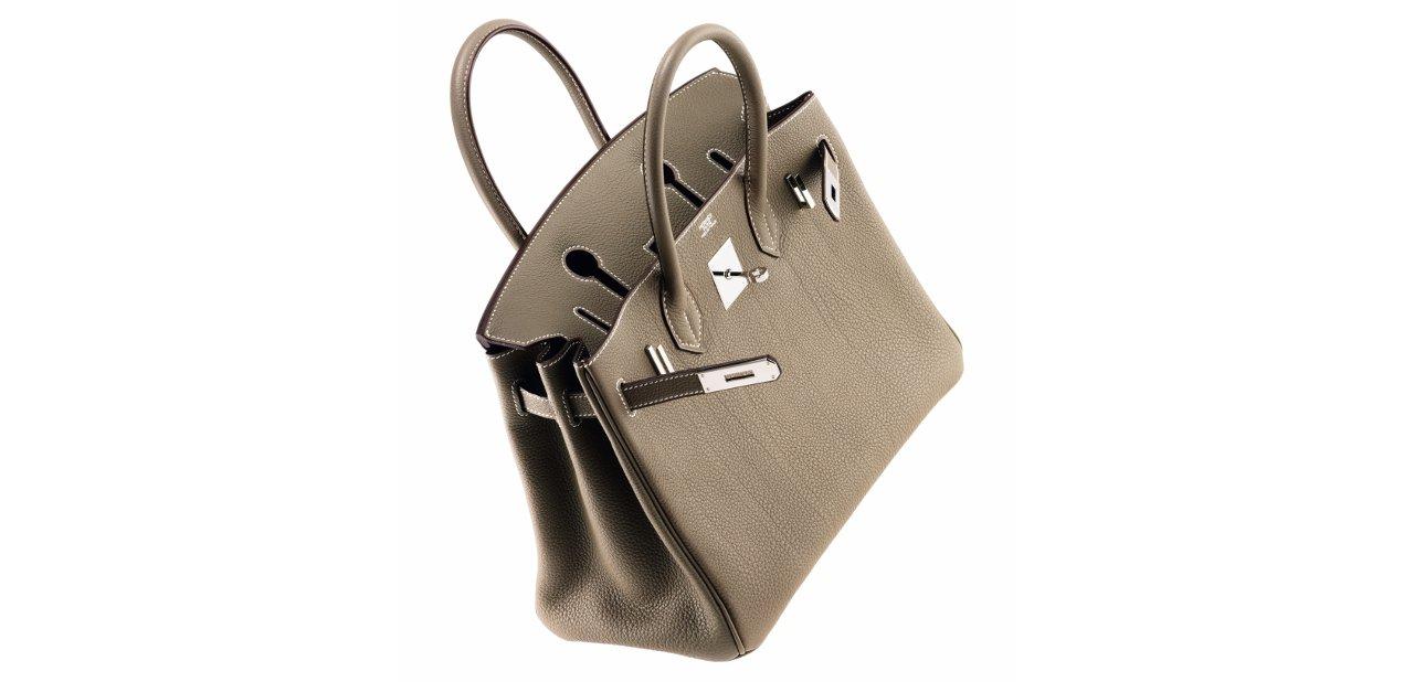 Bolso Birkin color topo de Hermès