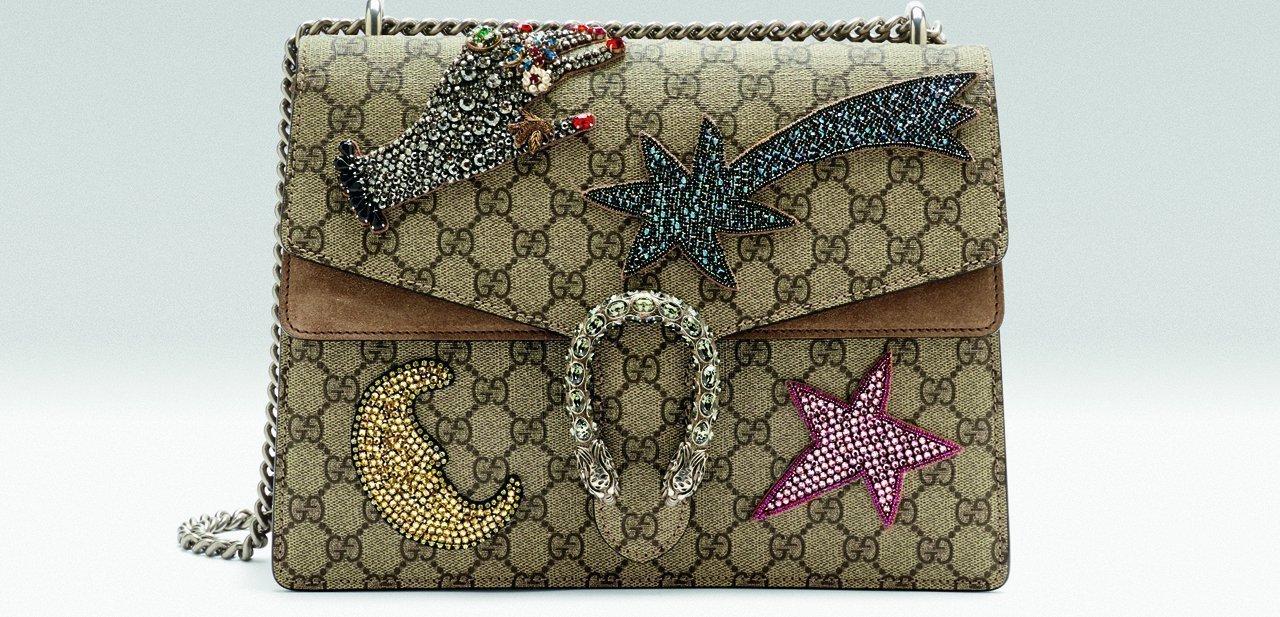 Bolso Dionysus de Gucci con diferentes apliques bordados