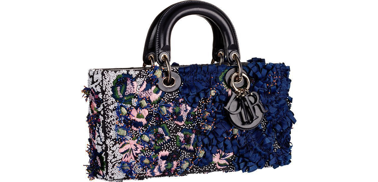 Bolso Dior Azul rosa y detalles