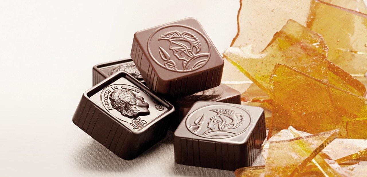 Bomobes de Leonidas con caramelo