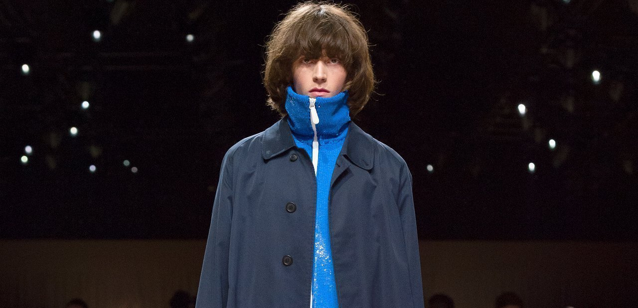 Burberry Prorsum 2016 chaqueta marine