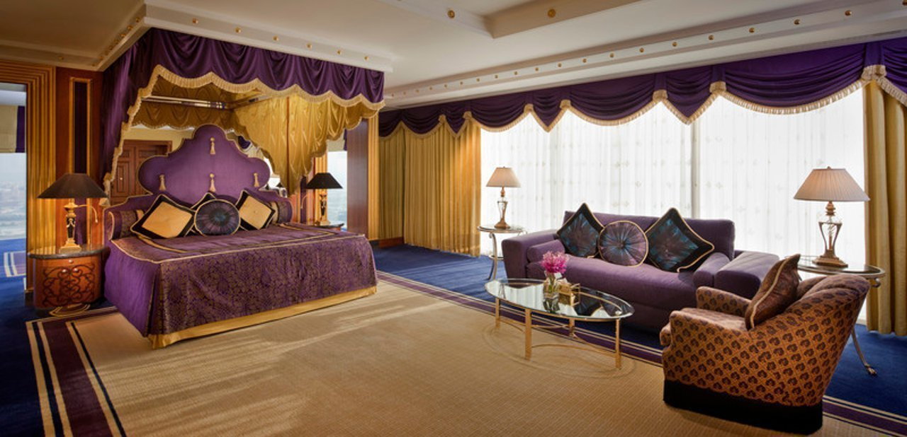 Burj Al Arab - Diplomatic Suite one of the Master Bedrooms Upper Level