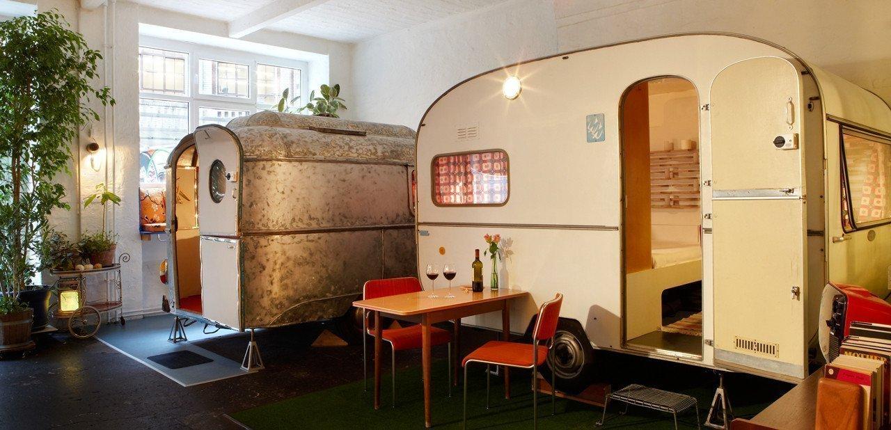 Caravanas dentro del Hotel Hüttenpalast