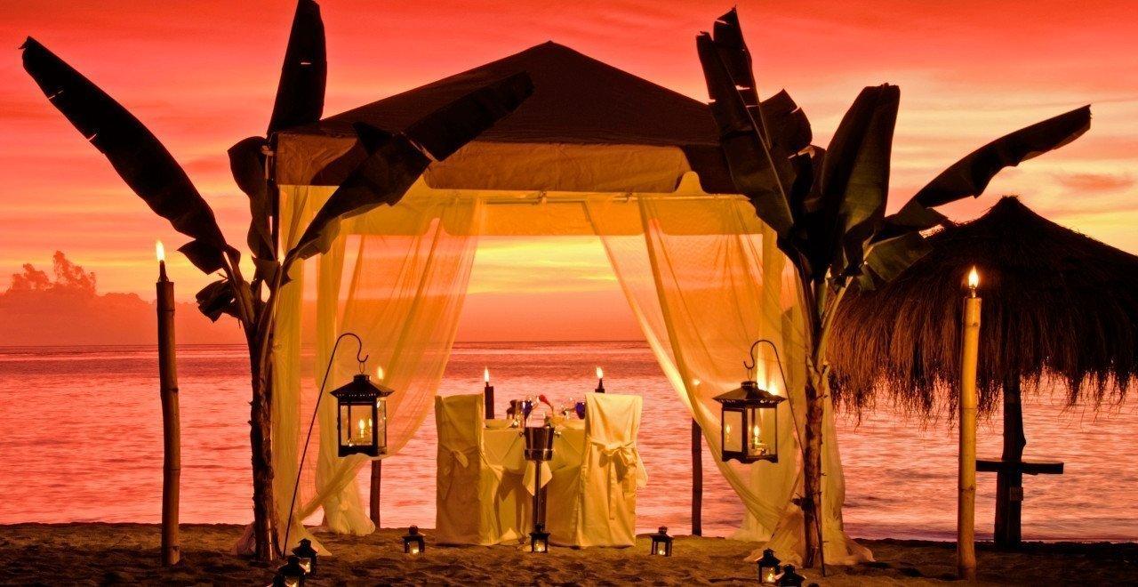 Cena privada en la playa del Anse Chastanet Resort