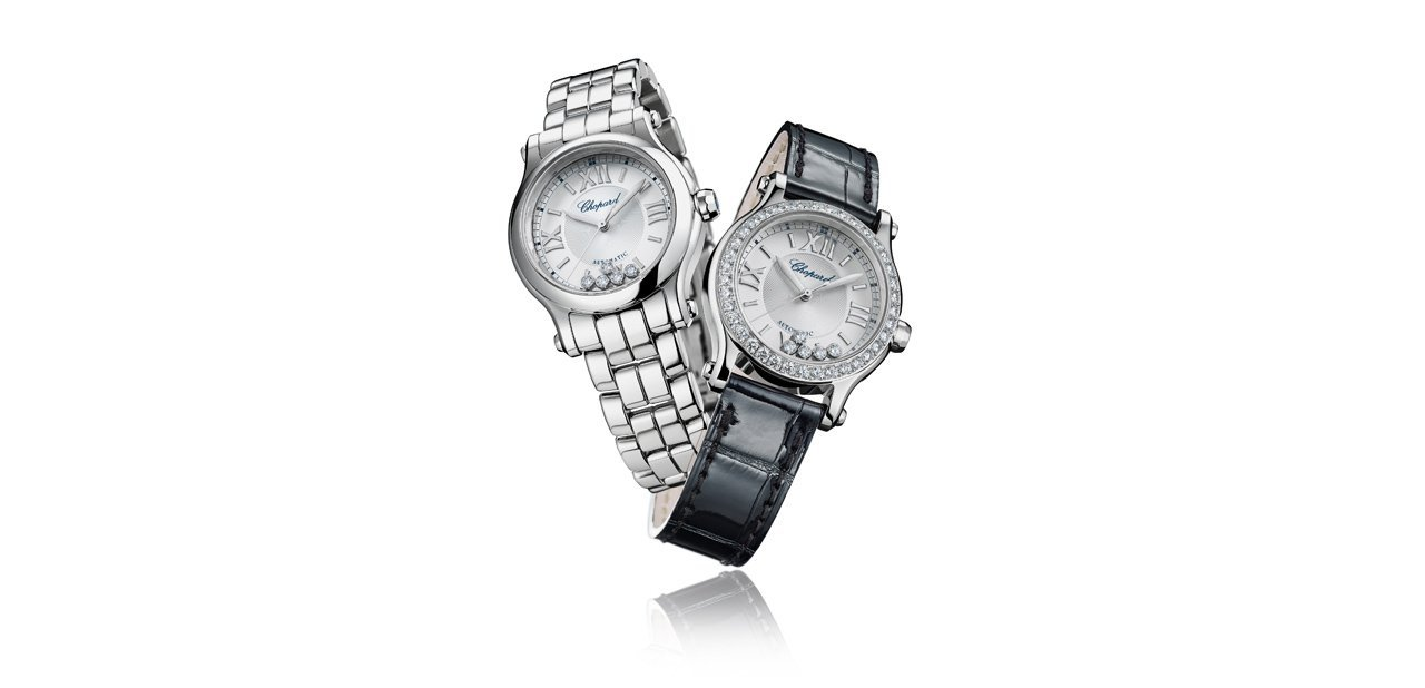 Chopard Happy Sport 30mm Automatic en acero y correa de cuero