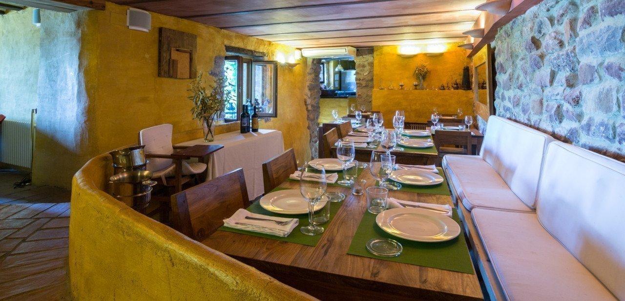 Comedor del restaurante de El jardín vertical