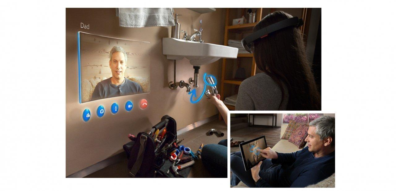 Demostración de cómo nos podrían ayudar a distancia con las Hololens