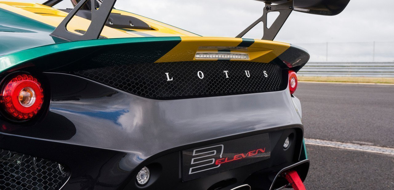 Detalle de la vista trasera del Lotus 3-Eleven