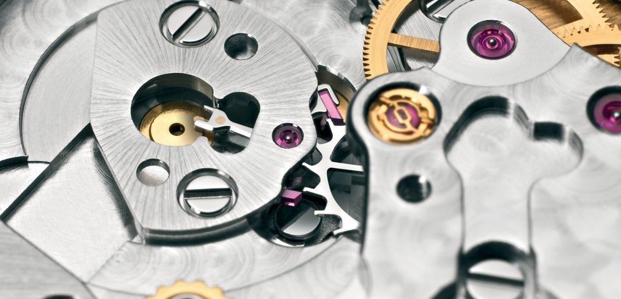 Detalle de un movimiento de Rolex