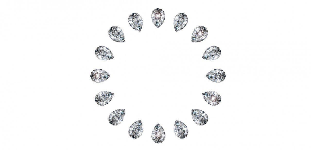 Diamantes en círculo