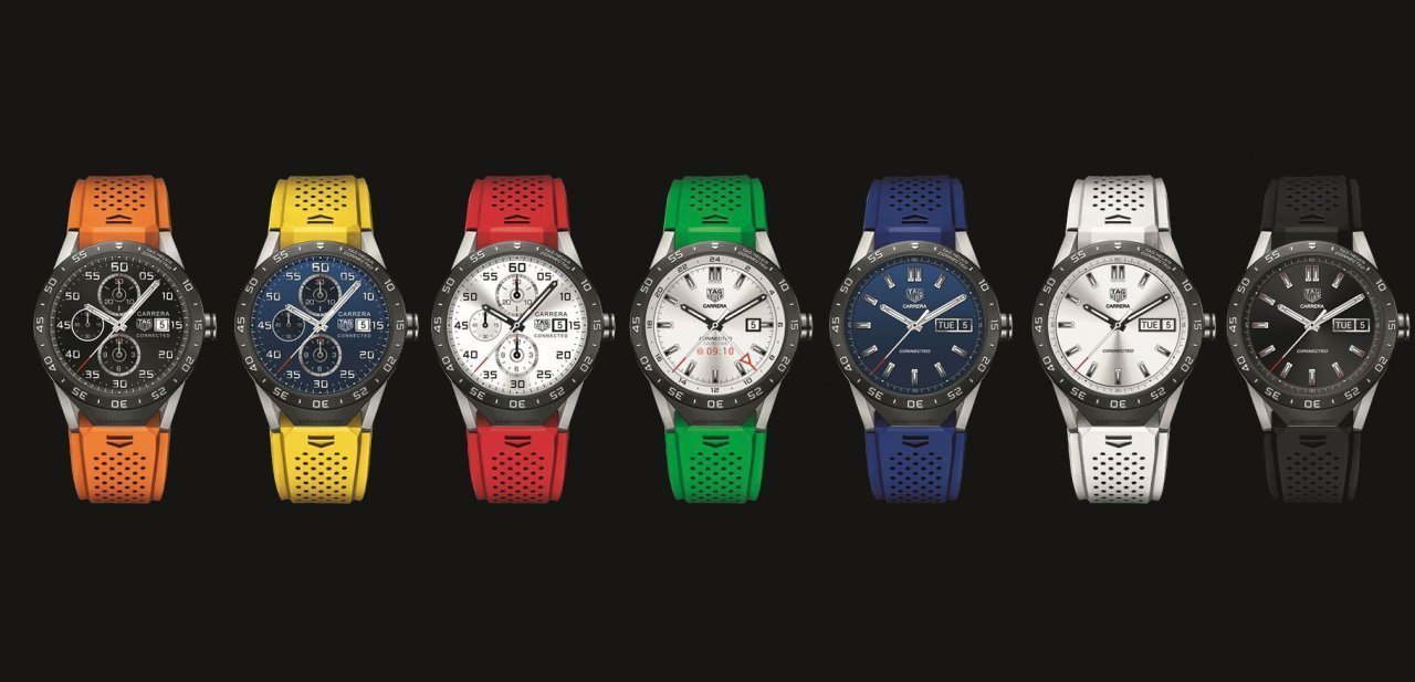 Diferentes combinaciones del colores del TAG Heuer Connected
