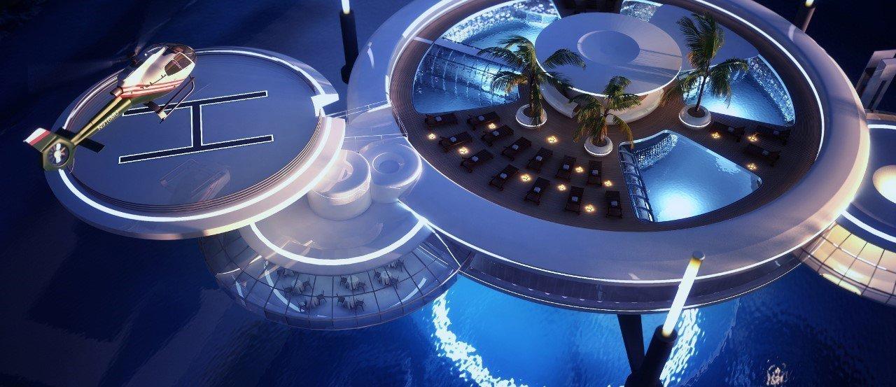 Disco superior del hotel