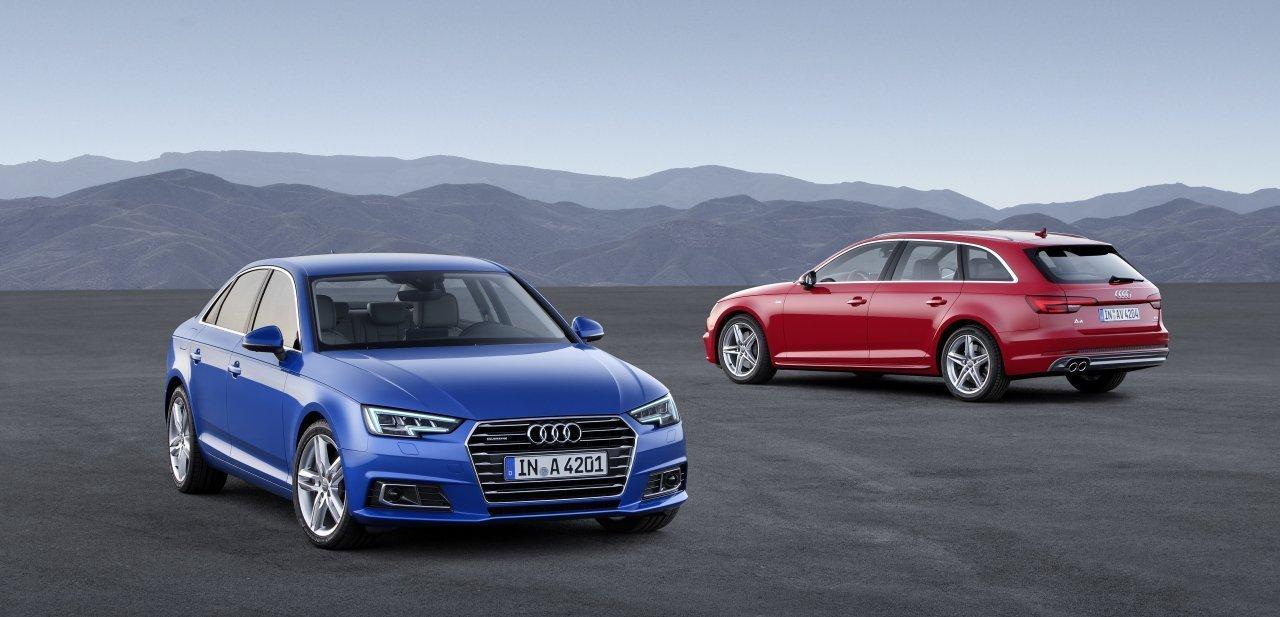 Dos nuevos Audi A4, en azul y rojo