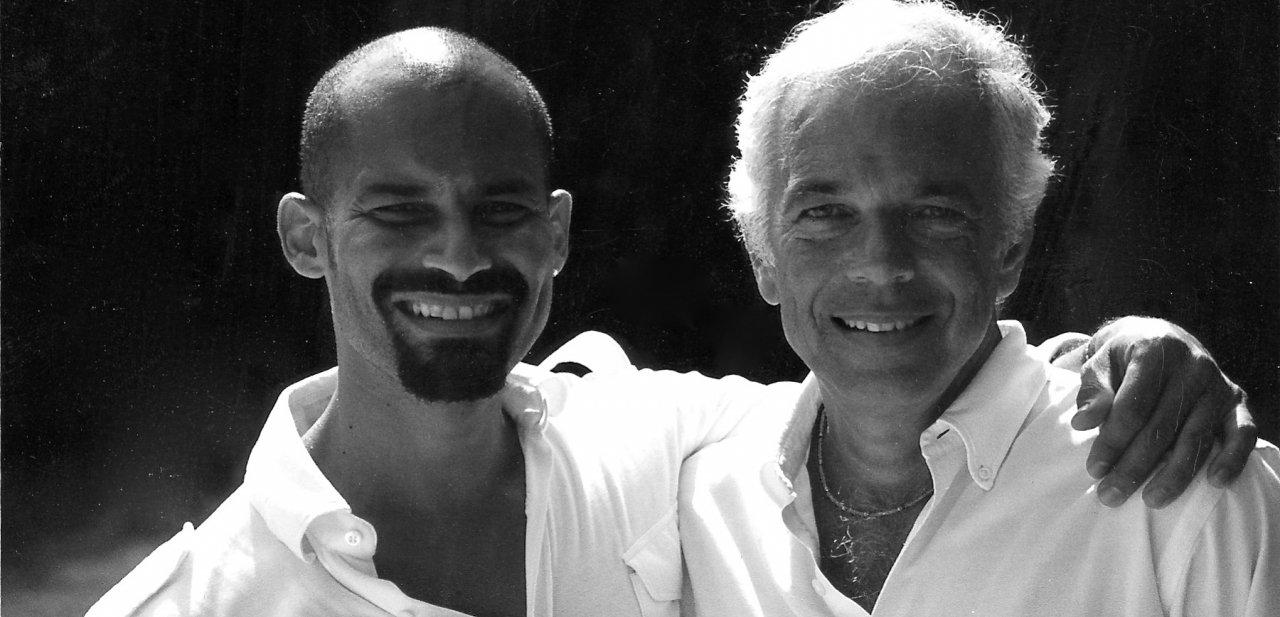 El diseñador Ralph Lauren con el fotógrafo Arnaldo Anaya-Lucca
