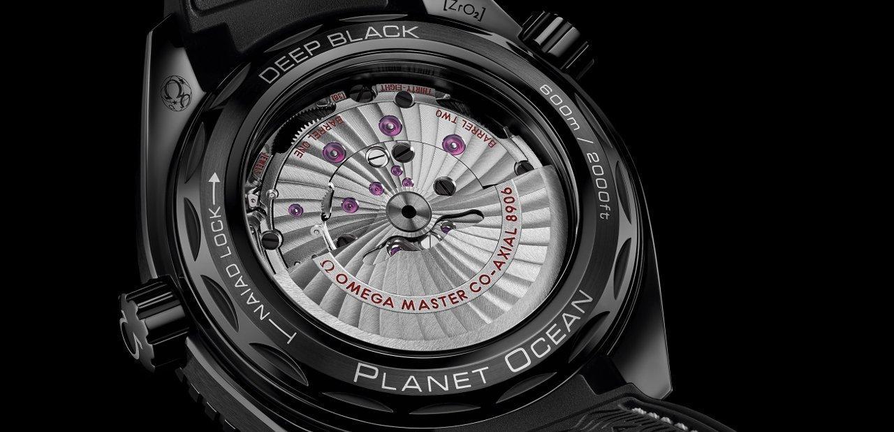 El fondo de los relojes Omega Planet Ocean Deep Black