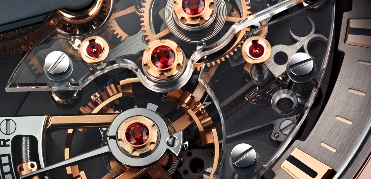 El mecanismo del reloj de Christophe Claret muy de cerca