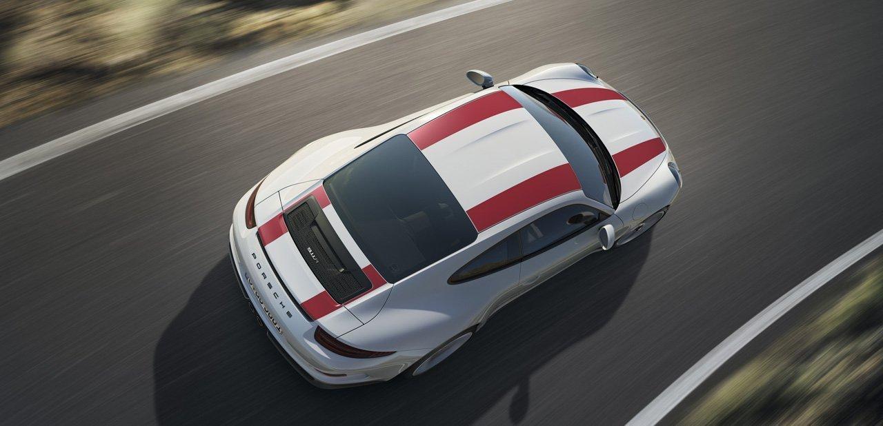 El Porsche 911 R desde arriba