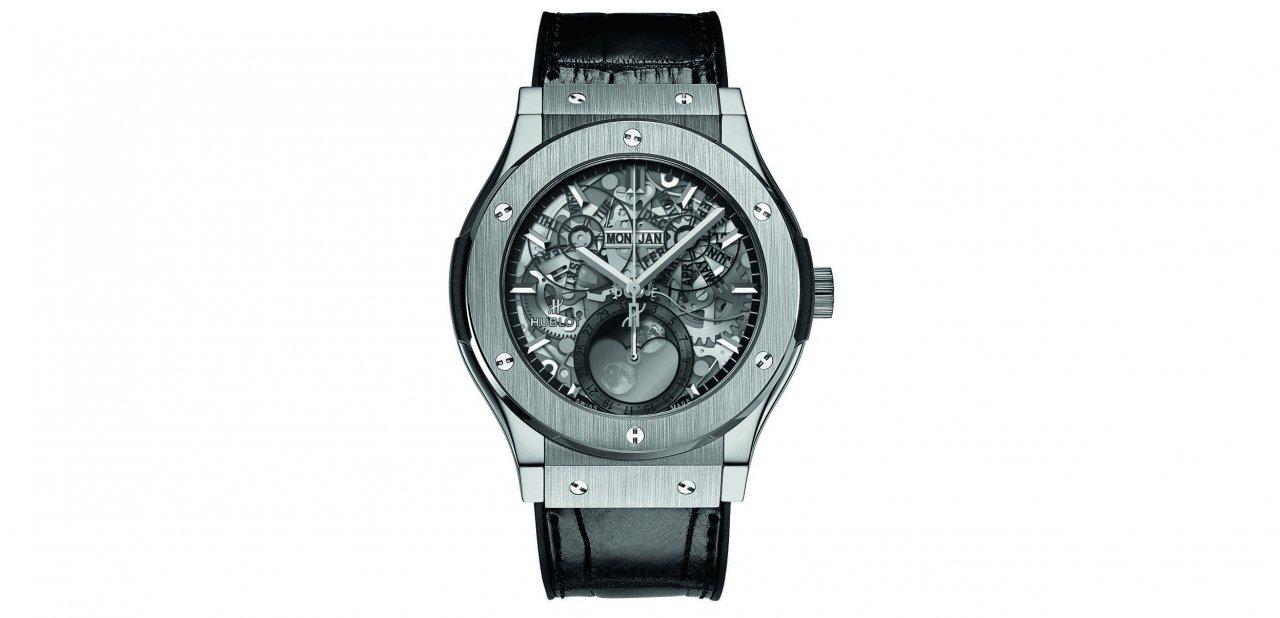 El reloj Classic Fusion Aeromoon en titanio
