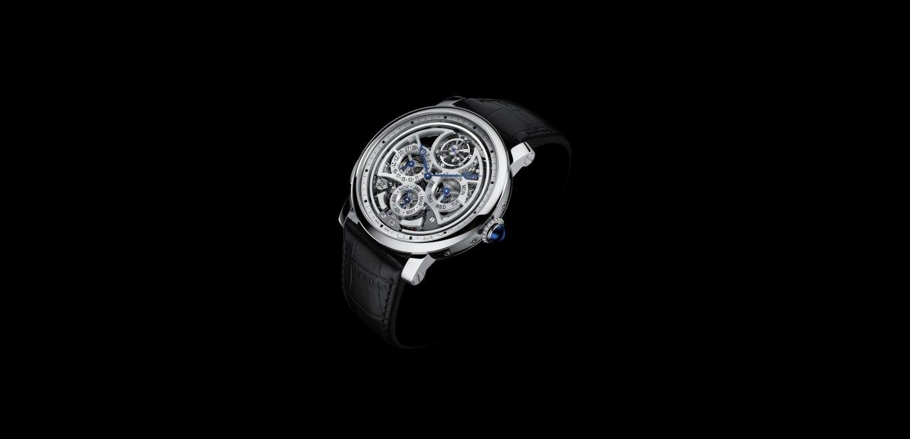 El reloj Rotonde de Cartier Gran Complicación con calibre 9406 M visto de forma frontal