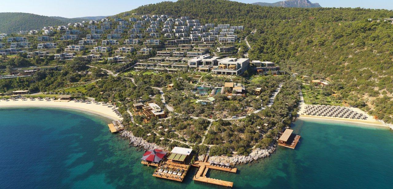 El 'resort' desde el aire