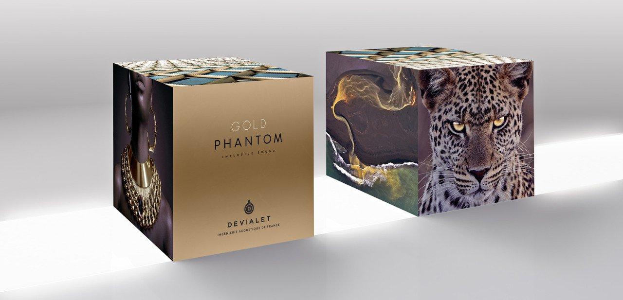 Embalaje del Devialet Gold Phantom
