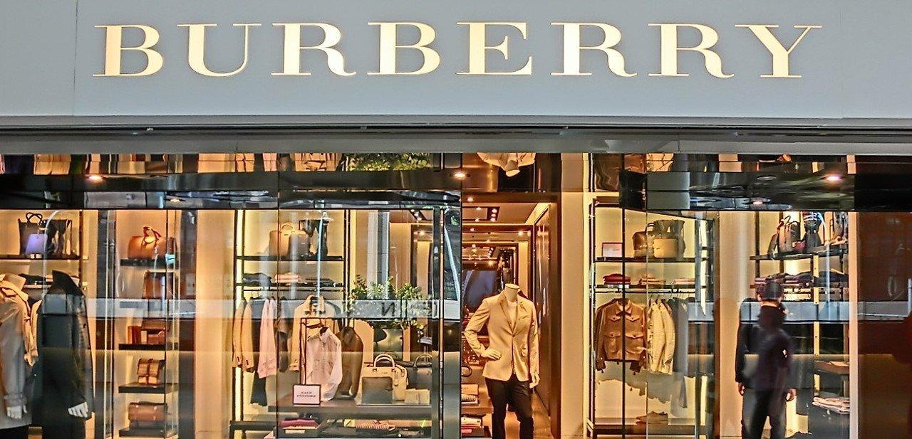 Escaparate de una de las tiendas de Burberry