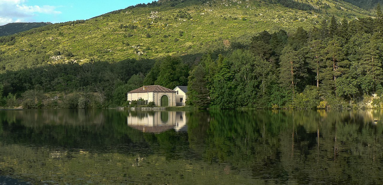 Estanque El Mar de los jardines del Palacio Real de La Granja de San Ildefonso
