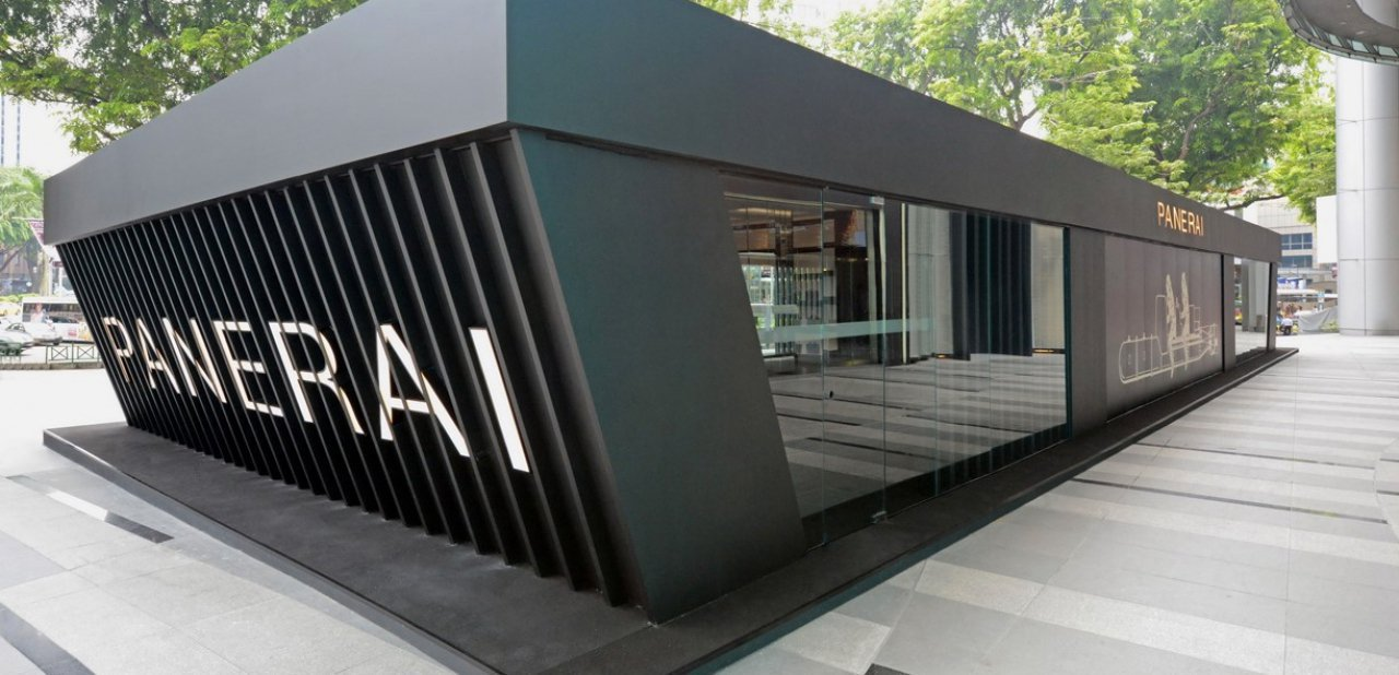 Exterior de la exposición de Panerai