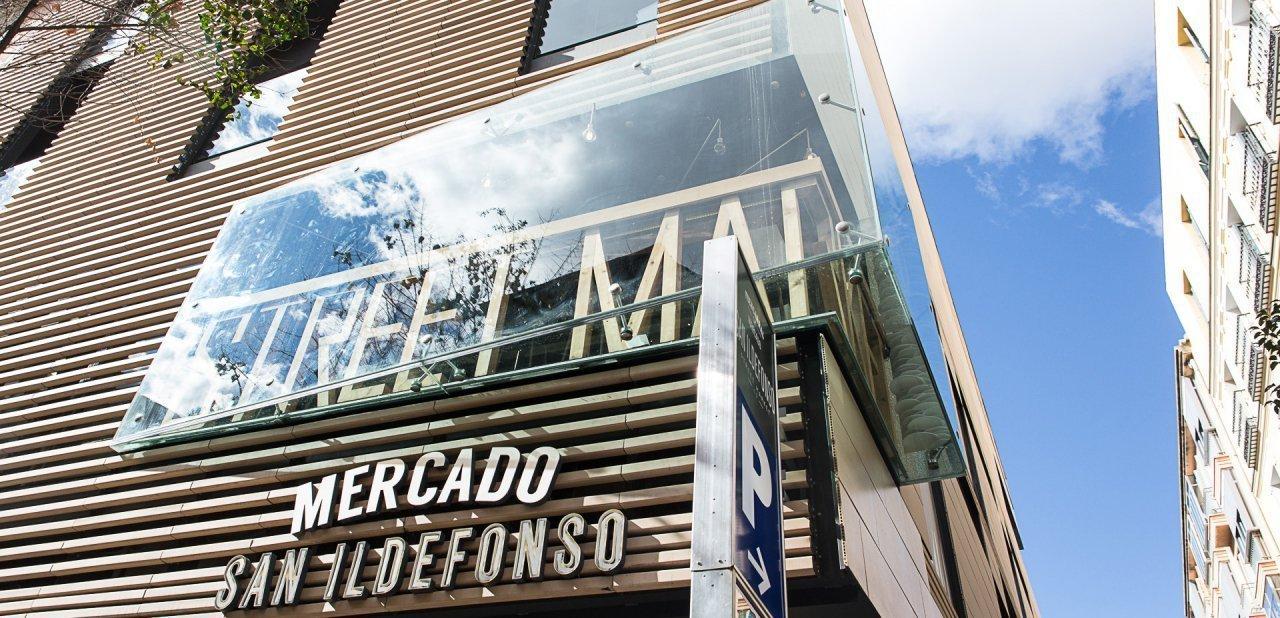Fachada del Mercado de San Ildefonso de Madrid
