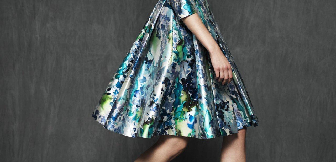 Falda del vestido Sicilia Estampado de Mira la Marela