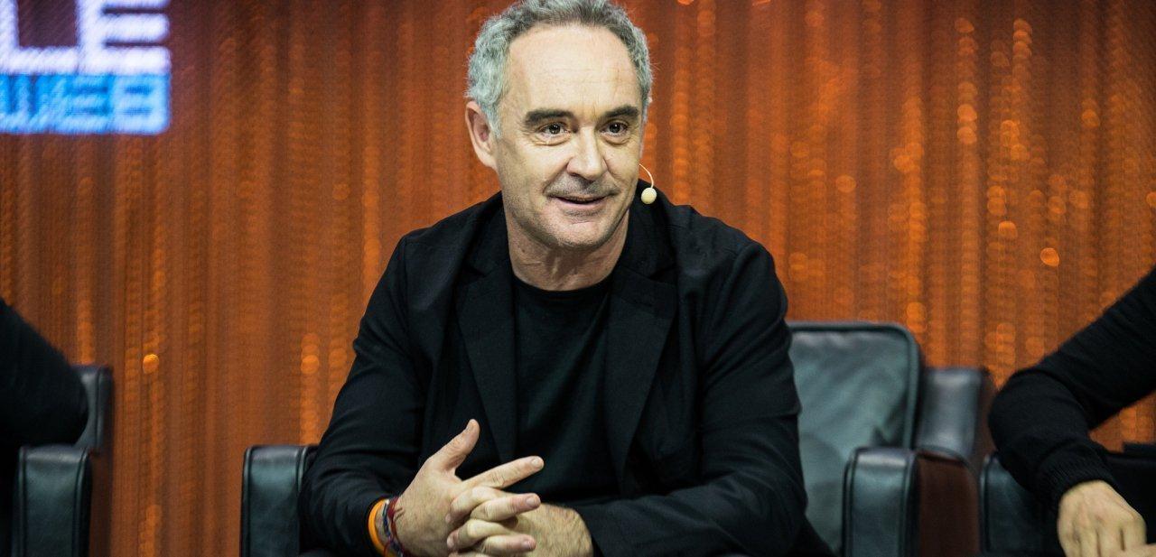 Ferran Adrià en una conferencia