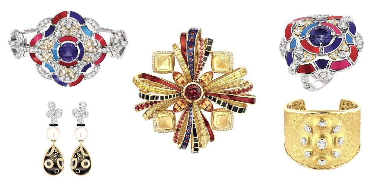 Fotocomposición con varias piezas de Les Talismans de Chanel