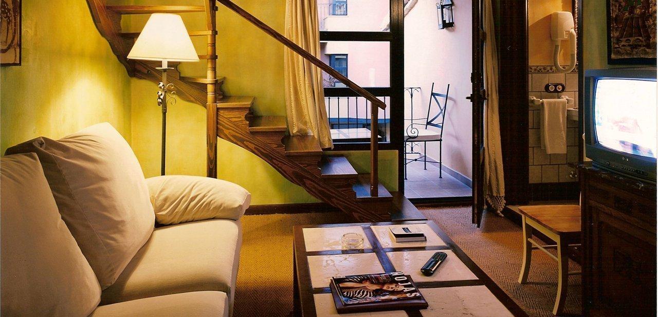 Fotografía de una de las habitaciones del hotel La Casa del Rector
