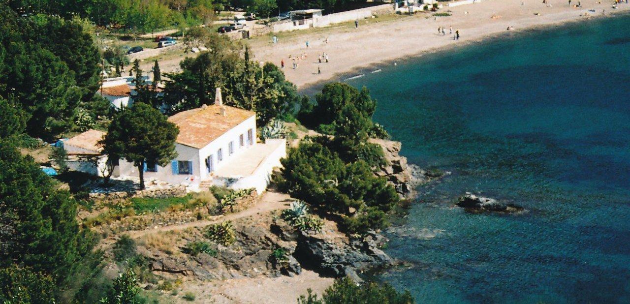 Imagen aérea de elBulli en Cala Montjoi