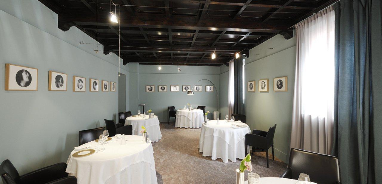 Imagen del interior del restaurante de Osteria Francescana