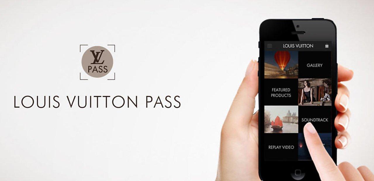 Imagen promocional de la aplicación Louis Vuitton Pass
