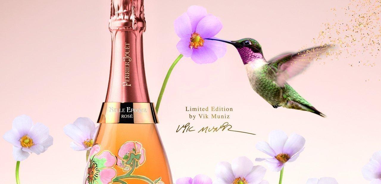 Imagen promocional del Belle Epoque Rosé 2005 by Vik Muniz