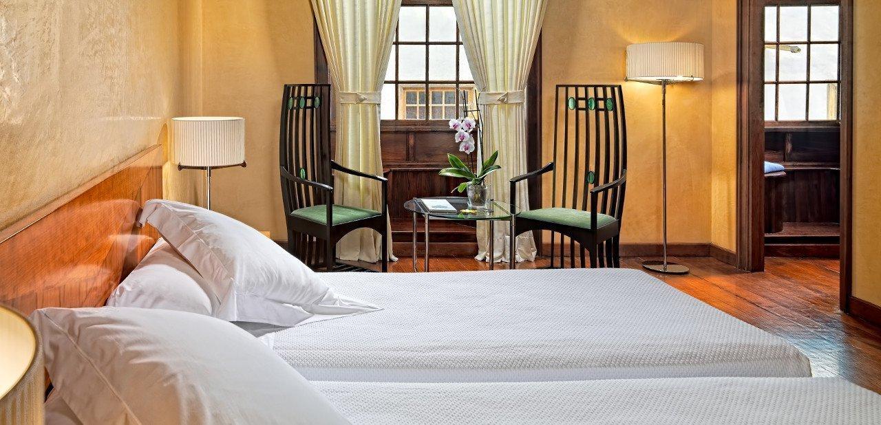 Interior de una habitación del Hotel San Roque