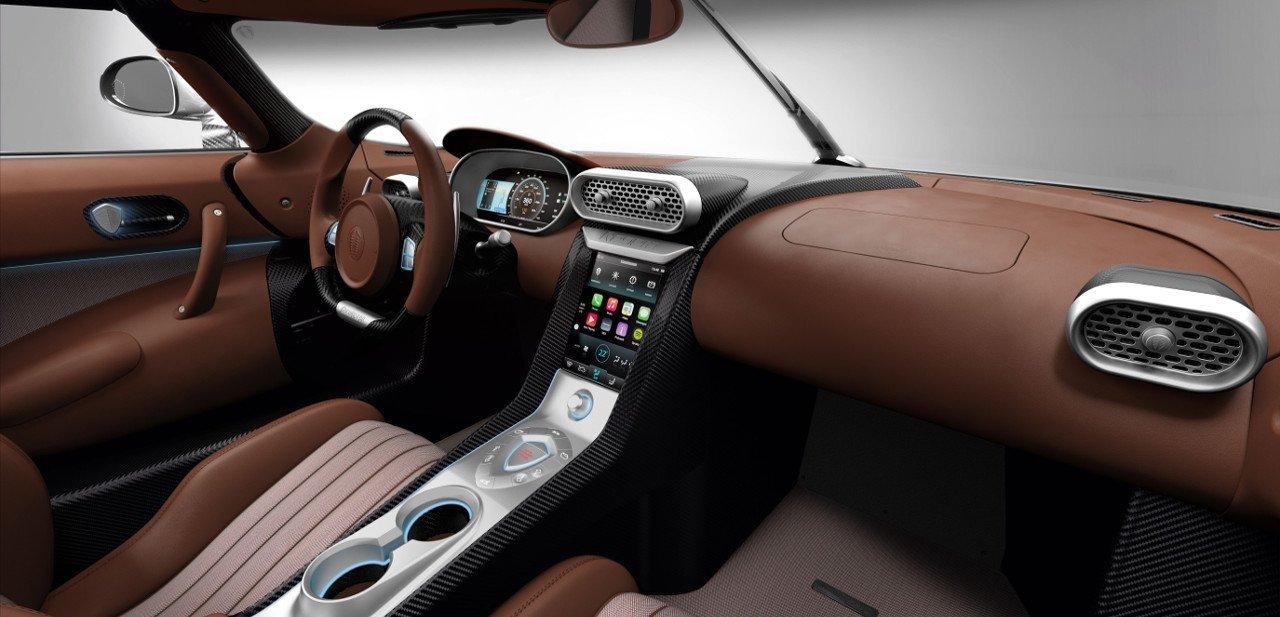 Interior del Koenigsegg Regera