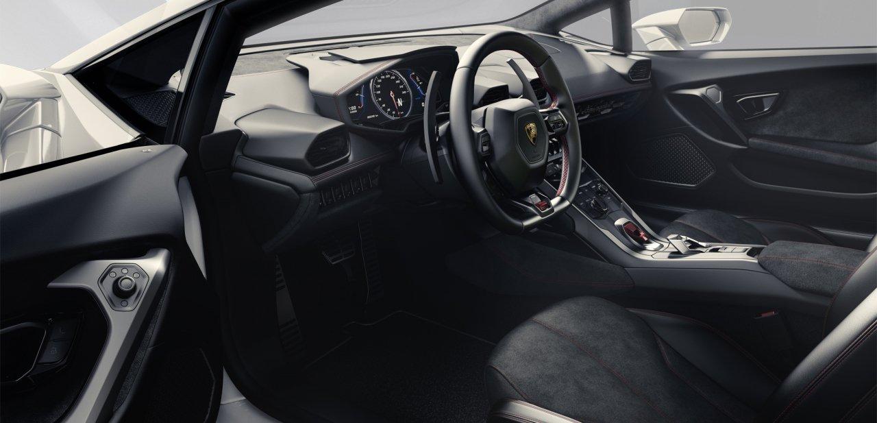 Interior del Lamborghini Huracán LP 610-4
