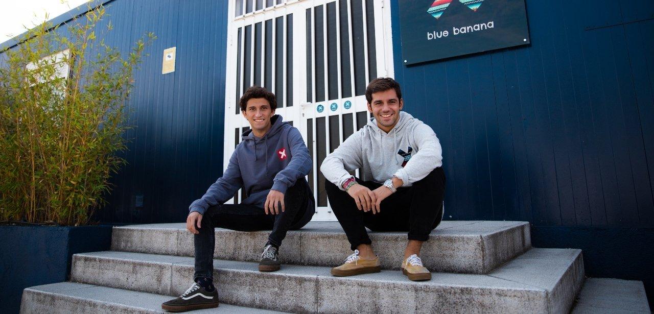 Juan y Nacho los fundadores de Blue Banana Brand