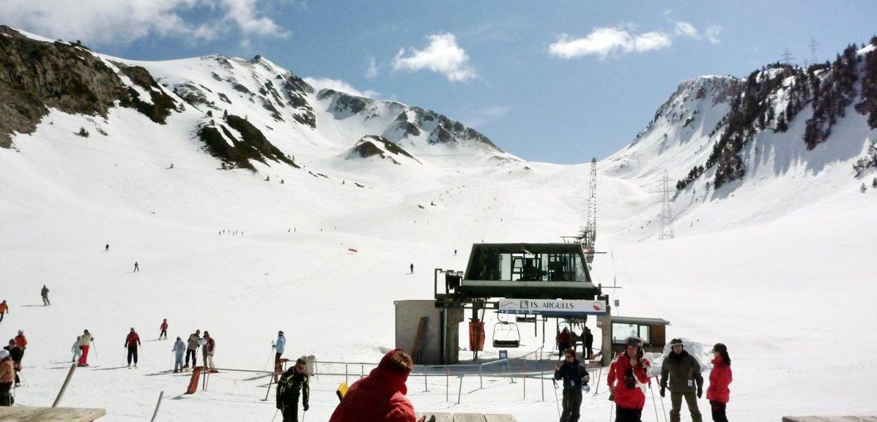 La zona de Bonaigua de la estación de esquí de Baqueira