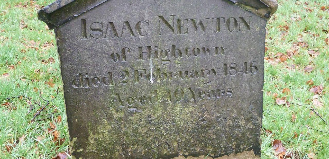 Lápida de Isaac Newton