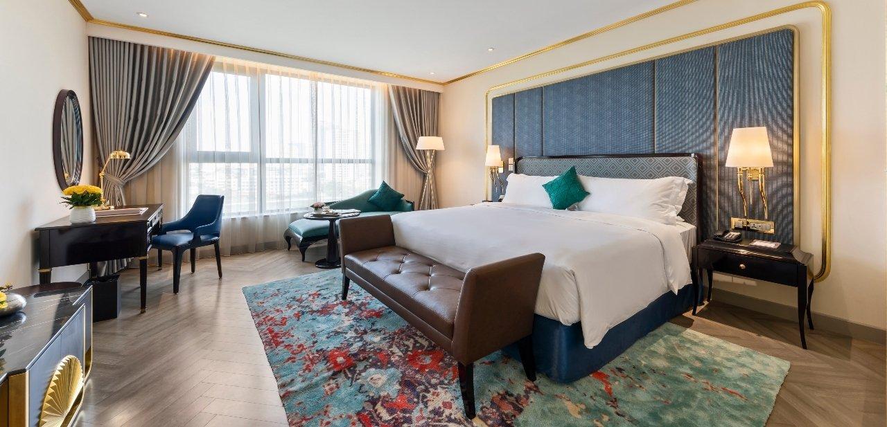 Habitaciones elegantes y confortables del Dolce Hanoi Golden Lake