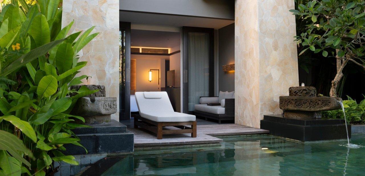 Las suites tienen piscinas privadas
