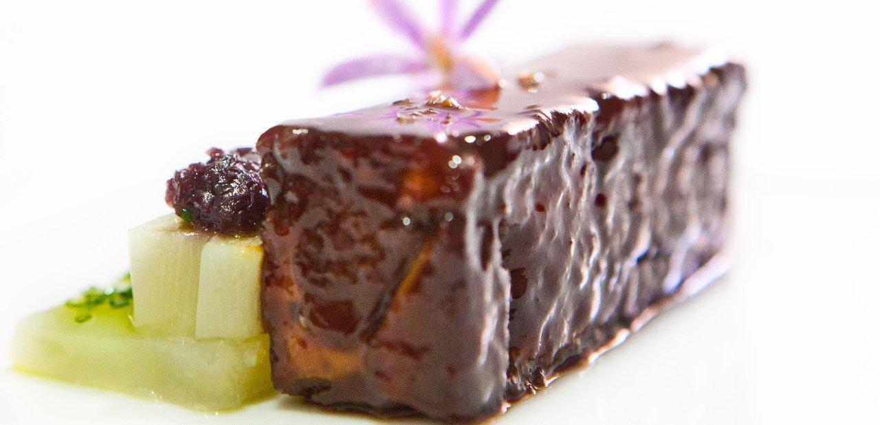 Lengua de ternera con patata y puerro del restaurante Zaranda
